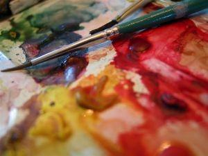 art painting palette