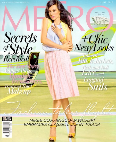 Mikee Cojuangco-Jaworski for Metro June 2012