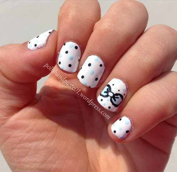 Cute nail designs bows cute bow design my nail designs cute nail designs bows bow nails nail art with bows jpg cute design painted prinsesfo Images