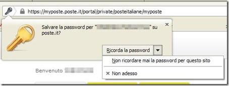Firefox Non ricordare mai la password per questo sito