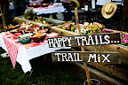 A trail mix bar was set up for guests so they would have snacks for their hikes. It was a big hit.