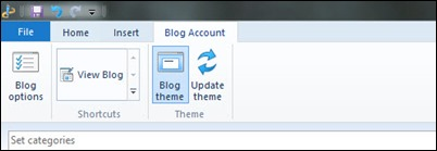 Blogger Blog Account ribbon