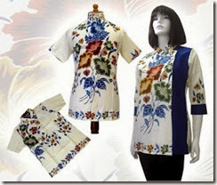 baju batik model blus