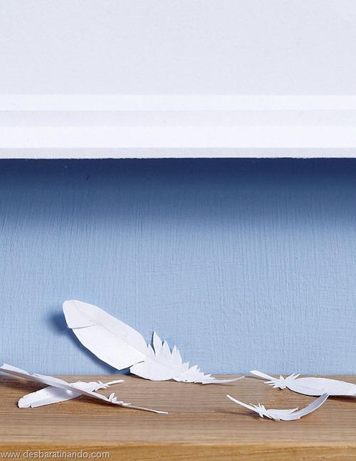 obras de arte em papel 3D origami Peter Callesen desbaratinando (44)