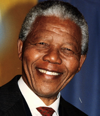 Photo of Nelson Mandela smiling