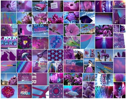 Resultados de la busqueda por color en Google Imágenes