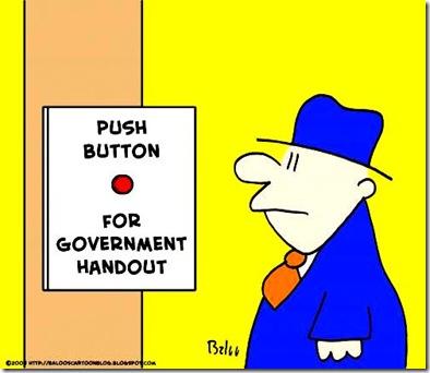 Push Button Govt Handout toon