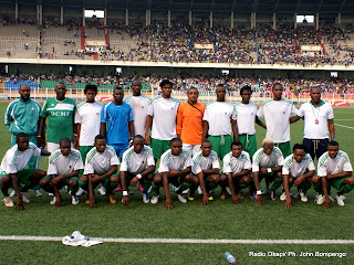 – L'équipe de DCMP(RDC), lors du match contre Simba(Tanzanie) au stade des martyrs à Kinshasa, score, DCMP-Simba : 2-0. Radio Okapi/ Ph. John Bompengo