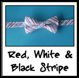 red, white & black stripe
