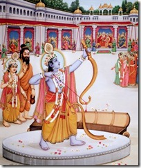 Rama lifting the bow