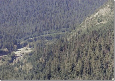 View of Scenic & Windy Point from Highway 2 Viewpoint in 1994
