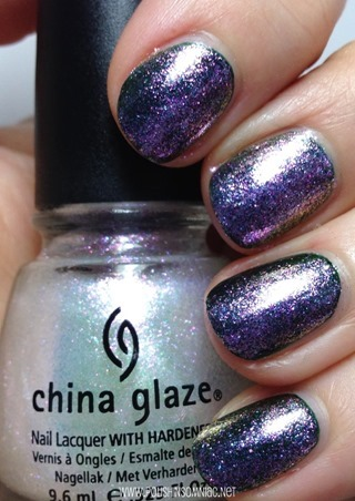 China Glaze Travel in Color over Jolly Holly