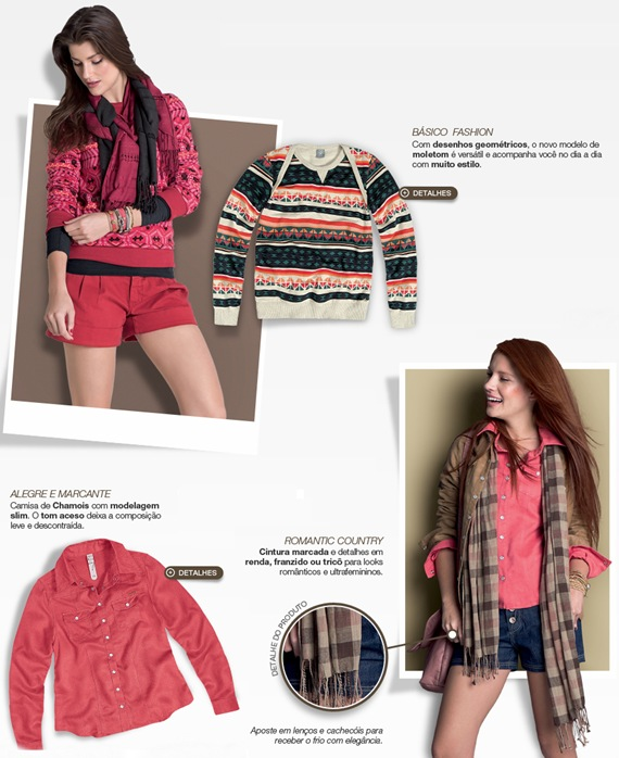 Hering Coleção Outono 2012: Looks femininos que são tendência na estação.