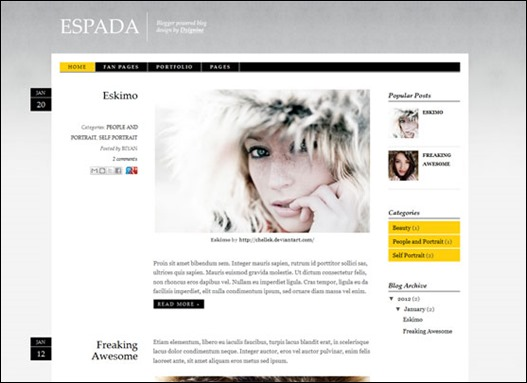 espada blogger template