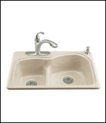 Kohler Woodfield Smart Divide Cast Iron Sink
