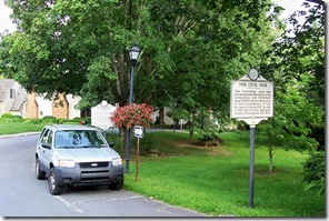 The Civil War/ Confederate Cemtery marker in Library Park, Lewisburg, WV