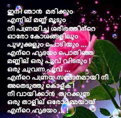 heart touching words about love in malayalam latest