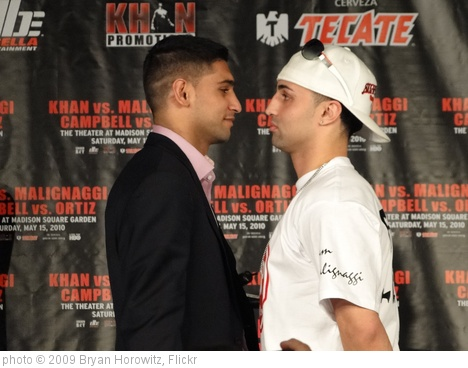 'Khan/Malignaggi' photo (c) 2009, Bryan Horowitz - license: http://creativecommons.org/licenses/by-sa/2.0/