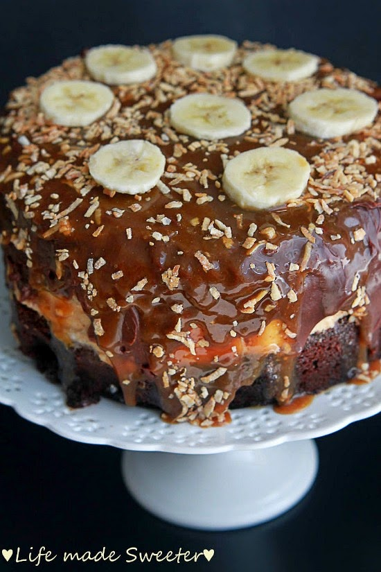 Chocolate Cake & Bananas with Salted Caramel Frosting 2.jpg