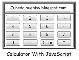 Kalkulator sederhana dengan Javascript