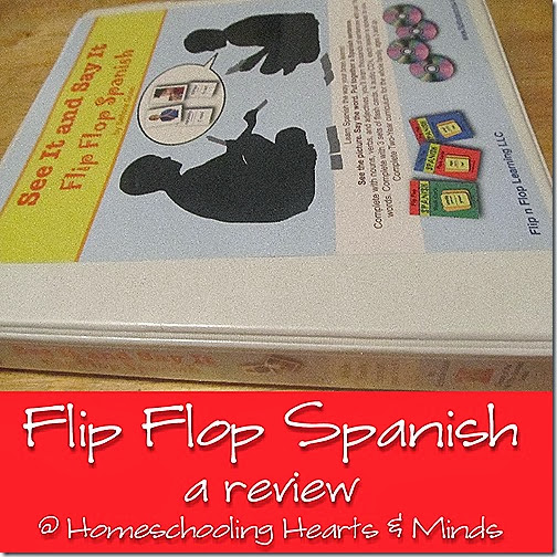 Flip Flop Spanish fits into a binder!