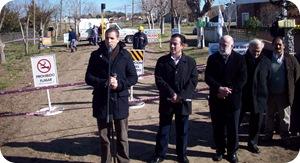 Juan Pablo de Jesús inauguró extensión de red de gas en Las Toninas
