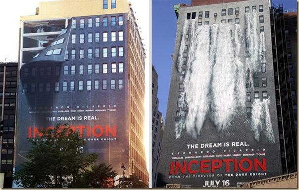 Publicités sur immeubles-inception