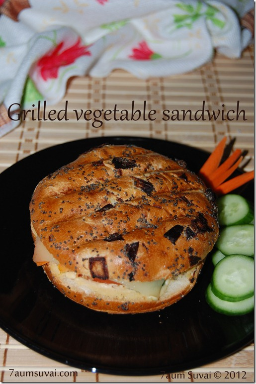 Grilled vegetable sandwich pic2
