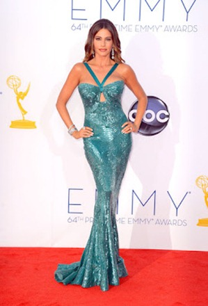 Sofia Vergara Wore Blue & Green Zuhair Murad Gown