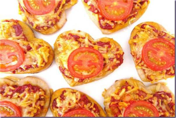 Pizzas-Corações