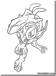 Ben 10 05 Supremacia Alienigena - Fogo Selvagem Supremo Desenhos para colorir e pintar Ben 10 Supremacia Alienígena