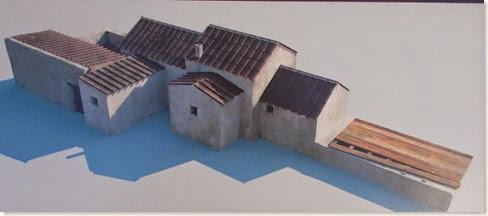 Villa romana de l´Alfas del Pi - Reconstrucción del posible aspecto exterior de las termas