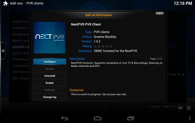 XBMC NextPVR Client