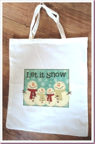 HobbyCraft Cotton Bag Christmas