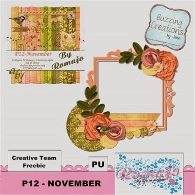 Romajo - P12 November - Frame Freebie Preview