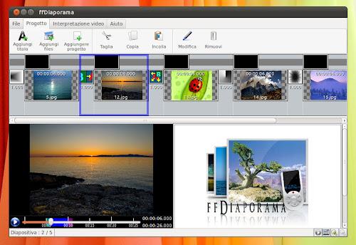 ffDiaporama 1.3 su Linux