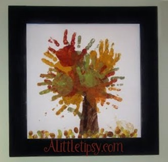 Fingerpainting Fall Tree
