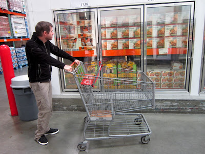 hmm, what shall I put in this huge shopping cart..