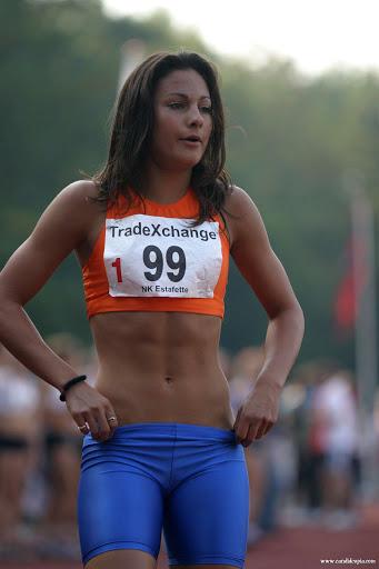 Girls in Tights Running Track