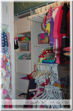 Childs Closet After {A Sprinkle of This . . . . A Dash of That}