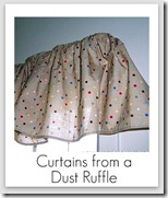 curtains from crib ruffle