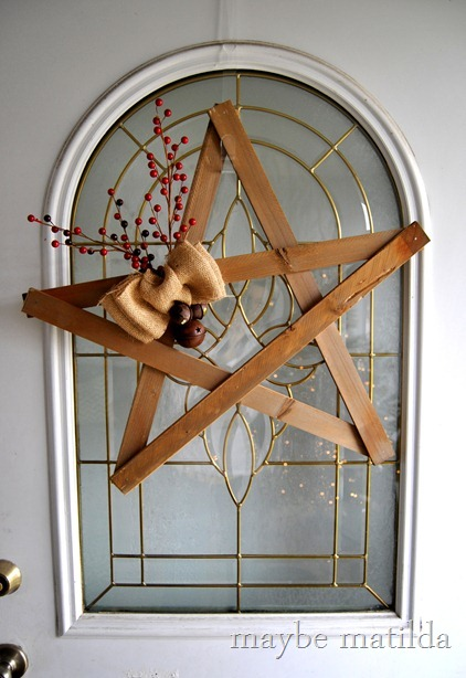 DIY Rustic Star Wreath