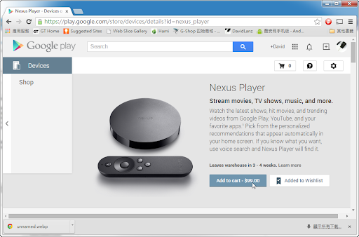 Nexus Player Stream movies, TV shows, music, and more