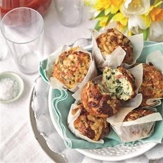 Spinach, Bacon And Cheddar Muffins
