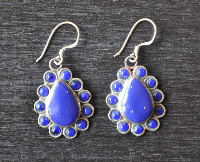 Lapis Ear ring