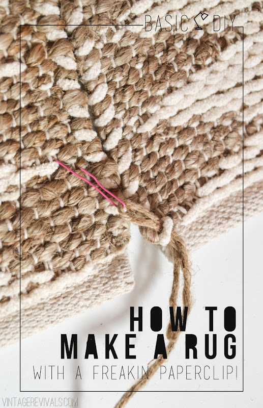 Basic DIY How To Make A Rug