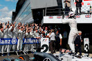 Valterri Bottas, Williams F1, 2nd Position, celebrates in Parc Ferme