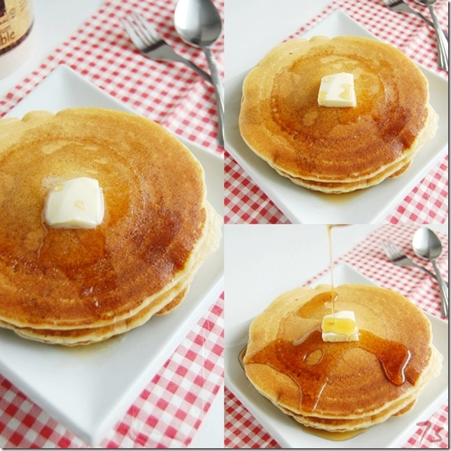 Eggless pancake collage