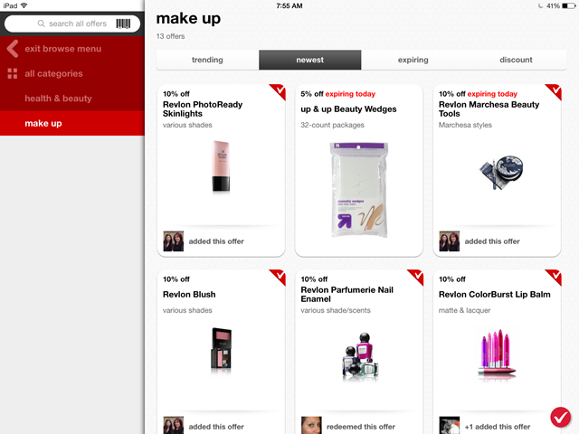 Target Cartwheel - discounts on Makeup!