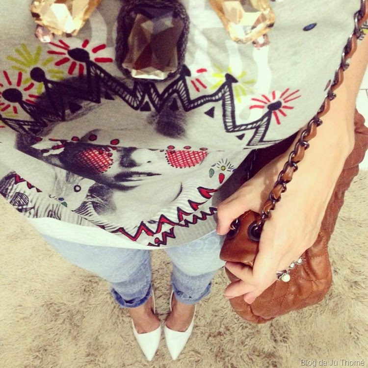 look jeans, tee e scarpin branco2